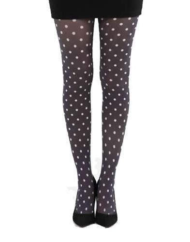 + PAMELA MANN Retro 60s Mod Polka Dot Tights