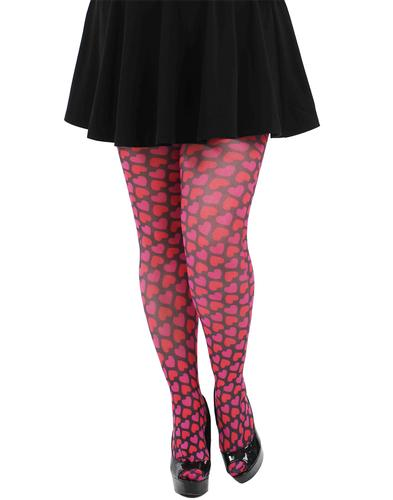 Pamela Mann Retro 70s Candy Hearts Print Tights