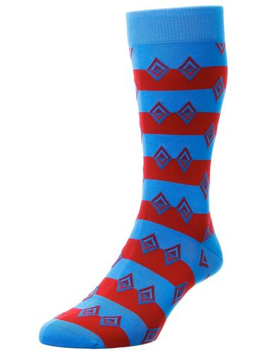 + Acapulco PANTHERELLA Retro Aztec Diamond Socks T