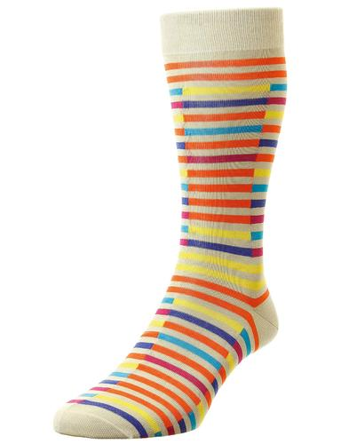 + Bahama PANTHERELLA Men's Broken Stripe Socks C