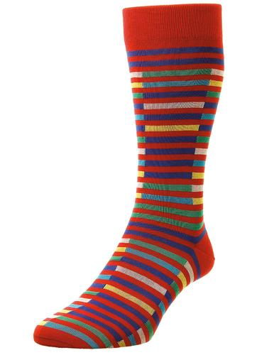 + Bahama PANTHERELLA Men's Broken Stripe Socks S
