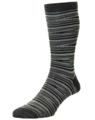 + Cremer PANTHERELLA Scrambled Stripe Merino Socks