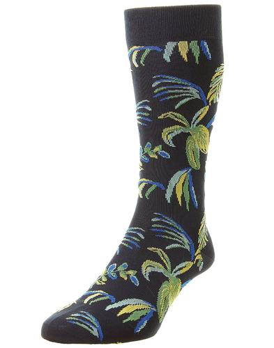 + Tuvalu PANTHERELLA Men's Retro Palm Tree Socks N