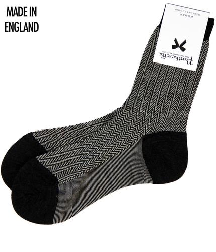 + Hatty Ankle PANTHERELLA Womens Herringbone Socks
