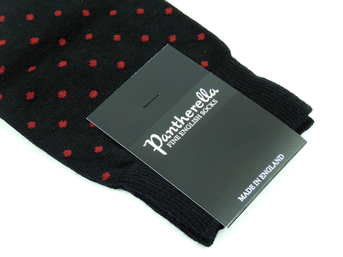 + Hackney PANTHERELLA Retro Mod Polka Dot Socks