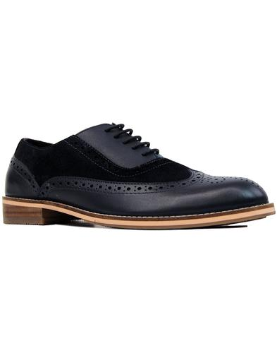 paolo vandini saxby mod oxford saddle brogues navy