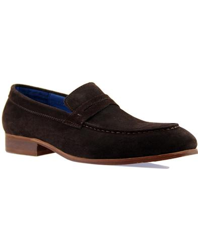 Travon PAOLO VANDINI Mod Suede Penny Loafers (CB)