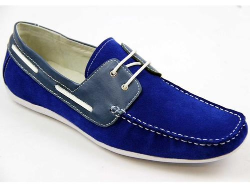 PAOLO VANDINI RETRO DRIVING SHOES LOAFERS BLUE
