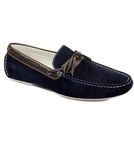 PAOLO VANDINI RETRO MOD SUEDE LOAFER DRIVING SHOES
