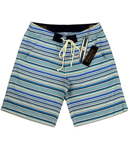 PENDLETON 60s Surf Stripe Drawstring Board Shorts