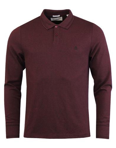ORIGINAL PENGUIN 60s Mod Herringbone Rib Polo Top
