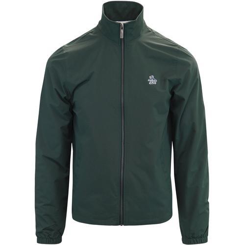 51a4335b4 original penguin mens retro indie lightweight hooded zip windcheater jacket  darkest spruce