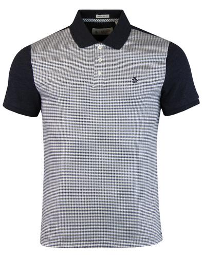ORIGINAL PENGUIN Retro Mod Micro Check Polo Shirt