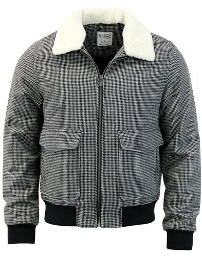 ORIGINAL PENGUIN Houndstooth Sherpa Collar Jacket