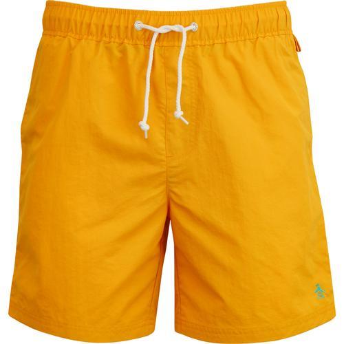fc2c4c7c332d3 original penguin mens daddy quick dry drawstring swim shorts cadmium yellow