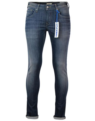 Finsbury PEPE JEANS Faded Blue Drainpipe Jeans Z07