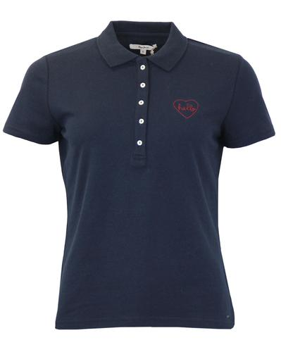 Bambi PEPE JEANS Retro Stitched Heart Pique Polo