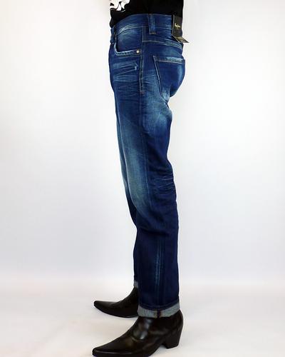 Cash PEPE Retro Indigo Crease Slim Leg Indie Jeans