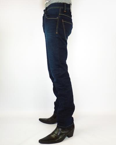 Cash PEPE Retro Mod Slim Leg Indie Jeans (DB)
