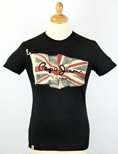 Flag Logo PEPE JEANS Retro Union Jack T-Shirt (B)