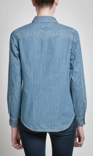 Trev PEPE JEANS Women's Retro 70s Denim Shirt