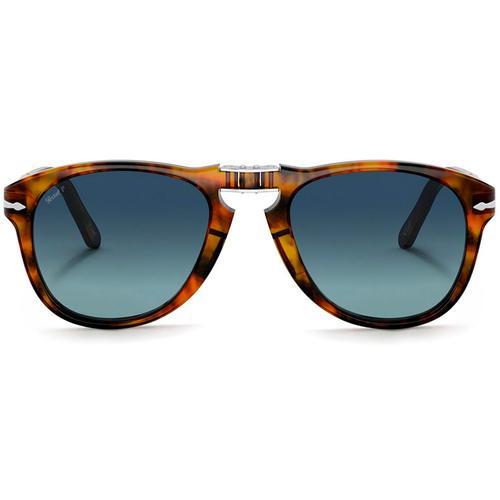 1242cc581dd Persol 0PO0714SM 108/S3 Steve McQueen Polarised Foldable Sunglasses in Caffe