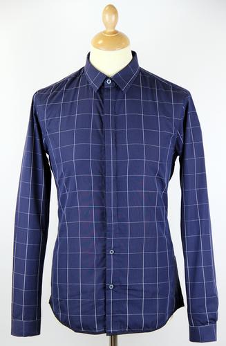 Hemsworth PETER WERTH Mod Window Pane Check Shirt