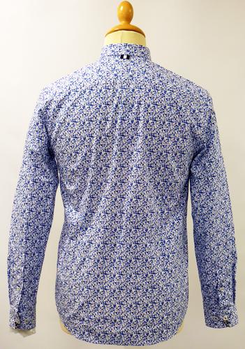 Rees Print PETER WERTH Retro 60s Floral Mod Shirt