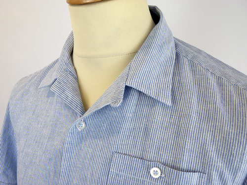 Maple PETER WERTH Retro Stripe Pyjama Collar Shirt