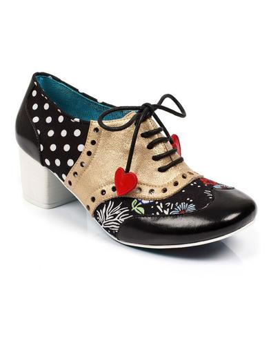 Clara Bow POETIC LICENCE Polka Dot Brogue Heels B