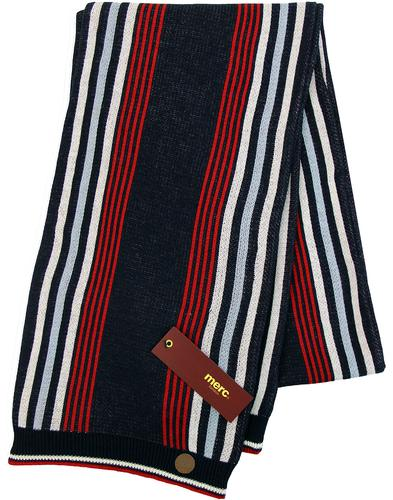 Powis MERC LONDON Retro Mod Knitted Stripe Scarf