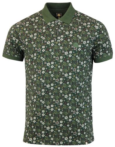 Balfour PRETTY GREEN Retro Floral Pique Polo Shirt