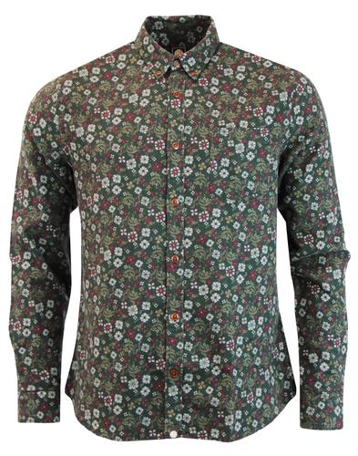 Blafour PRETTY GREEN Brushed Cotton Floral Shirt