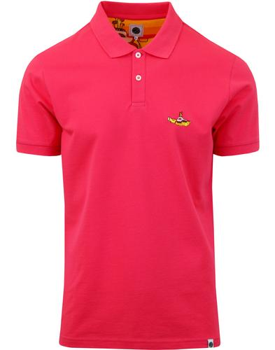 PRETTY GREEN x THE BEATLES Submarine Polo Top PINK
