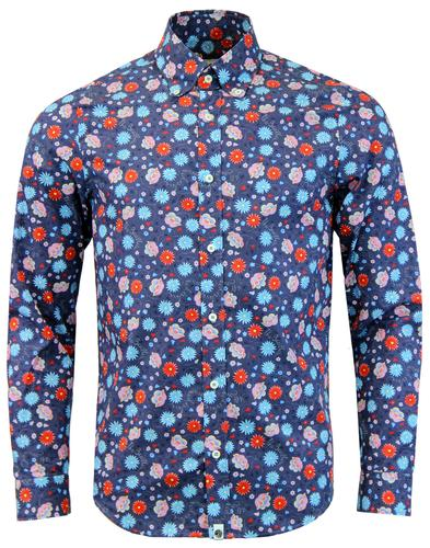 PRETTY GREEN x THE BEATLES Shears Mod Floral Shirt