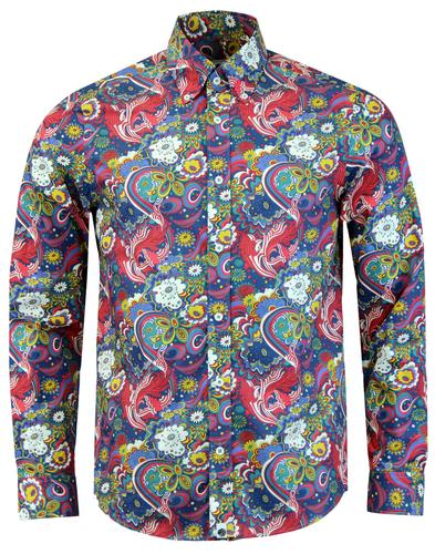 PRETTY GREEN x THE BEATLES Walrus Mod Floral Shirt