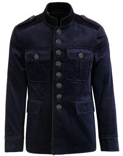Pretty Green Black Label Cord Tunic Jacket Navy