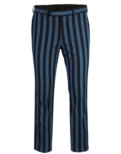 pretty green retro 60s mod boating stripe trousers