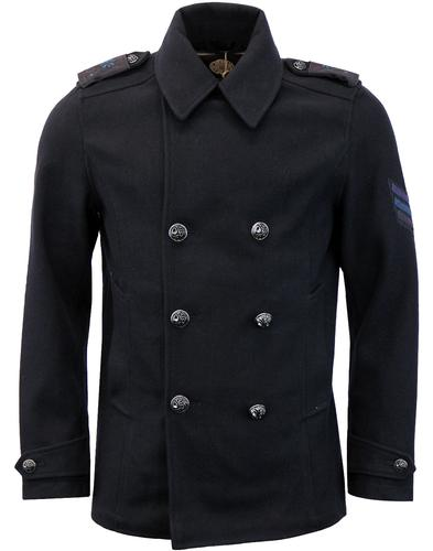 Bourdon PRETTY GREEN Retro 60s Military Peacoat