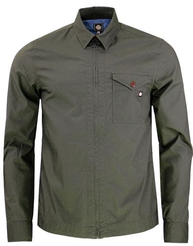 Caroline PRETTY GREEN Mod Military Zip Overshirt G