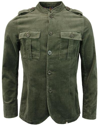 Crawley PRETTY GREEN Mod Military Cord Jacket (K)