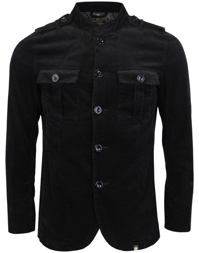 Crawley PRETTY GREEN Mod Military Cord Jacket (B)