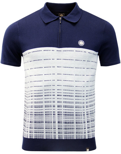 Croston PRETTY GREEN Mod Jacquard Dash Knit Polo N