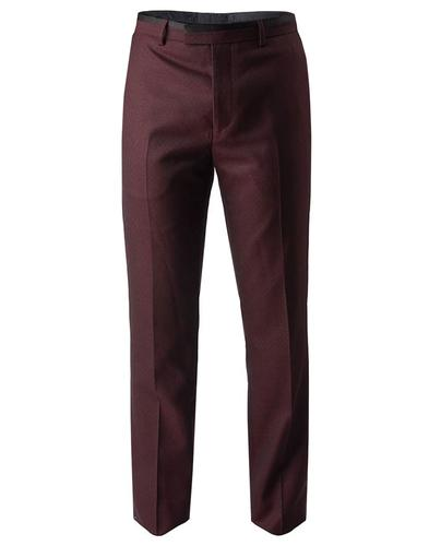 pretty green derby mod jacquard tailored trousers