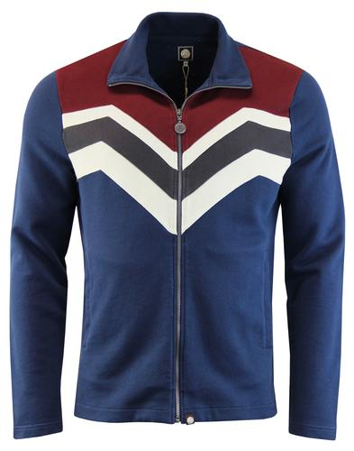 Emlyn PRETTY GREEN Retro 70s Chevron Track Jacket