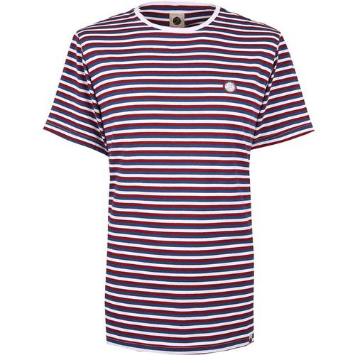 e64418fb0 PRETTY GREEN Retro Feeder Stripe Crew Neck Tee BL