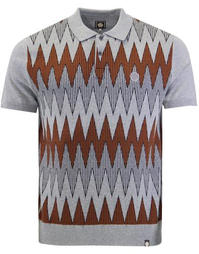 Drifter PRETTY GREEN 60s Mod Radio Wave Knit Polo
