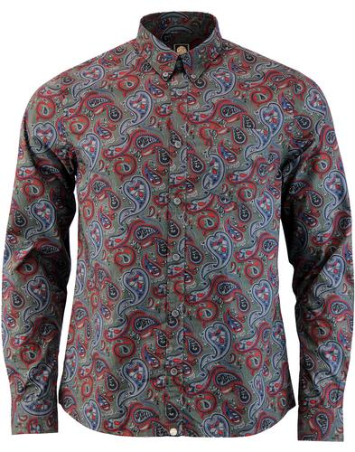Golborne PRETTY GREEN Signature 60s Paisley Shirt