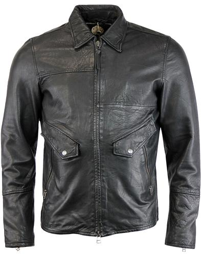 Jennets PRETTY GREEN Sixties Leather Jacket