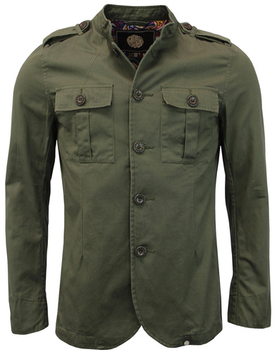 Langford PRETTY GREEN Mod Military Twill Jacket K